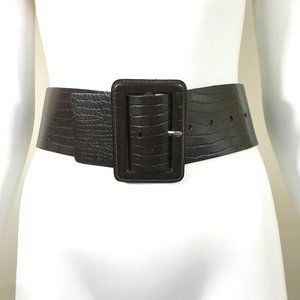 New Express Made in England Wide Leather Belt S